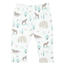 Buy Pigeon Organics Baby Wolf Leggings, Blue Online at johnlewis.com