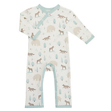 Buy Pigeon Organics Baby Wolf Long Sleeve Romper, Taupe Online at johnlewis.com