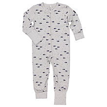 Buy Polarn O. Pyret Baby Space Onesie, Grey Online at johnlewis.com