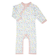 Buy Pigeon Organics Baby Flower Long Sleeve Romper, Pink Online at johnlewis.com