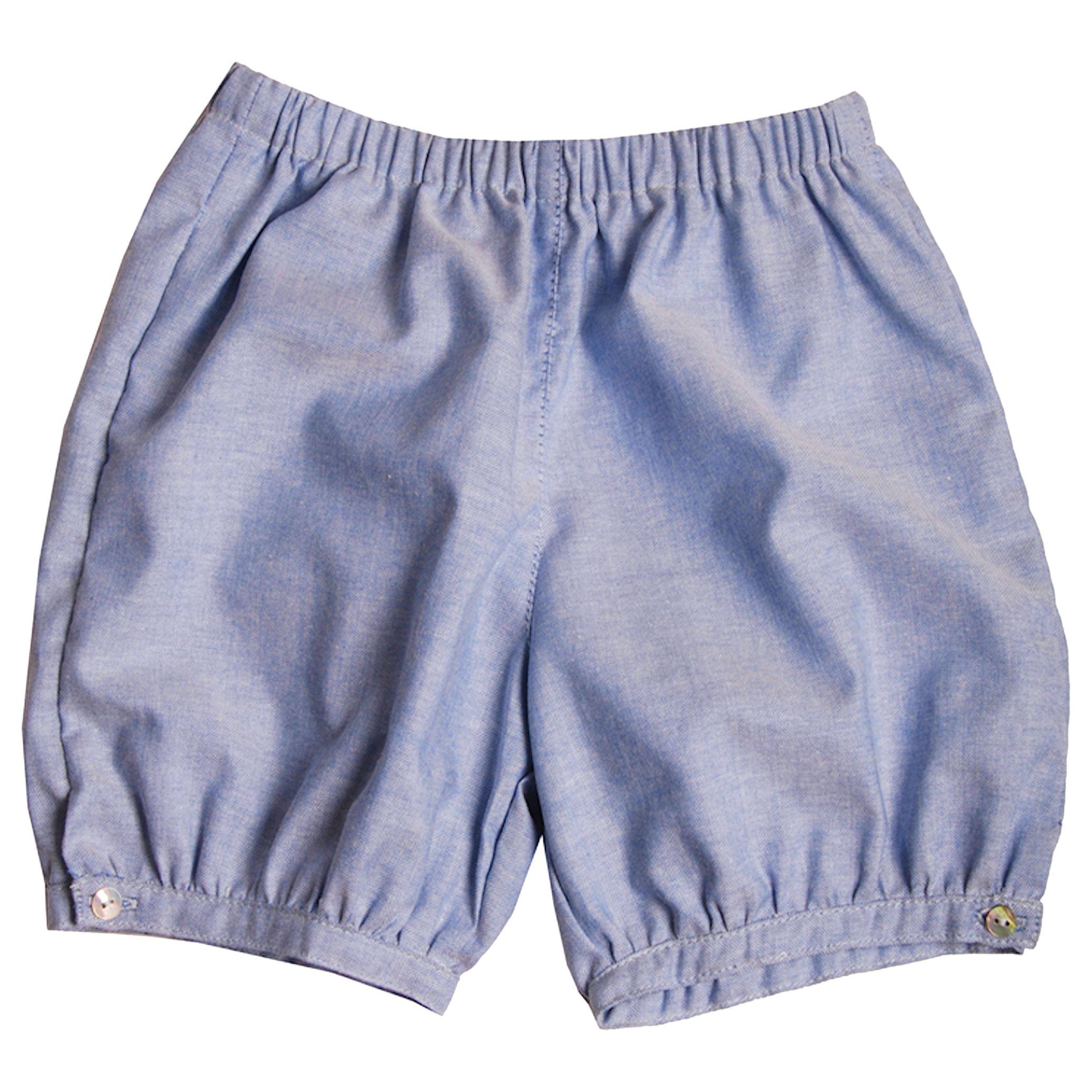 fa7cb801241 Mini La Mode Baby Pima Cotton Puff Pantaloons, Blue at John Lewis & Partners