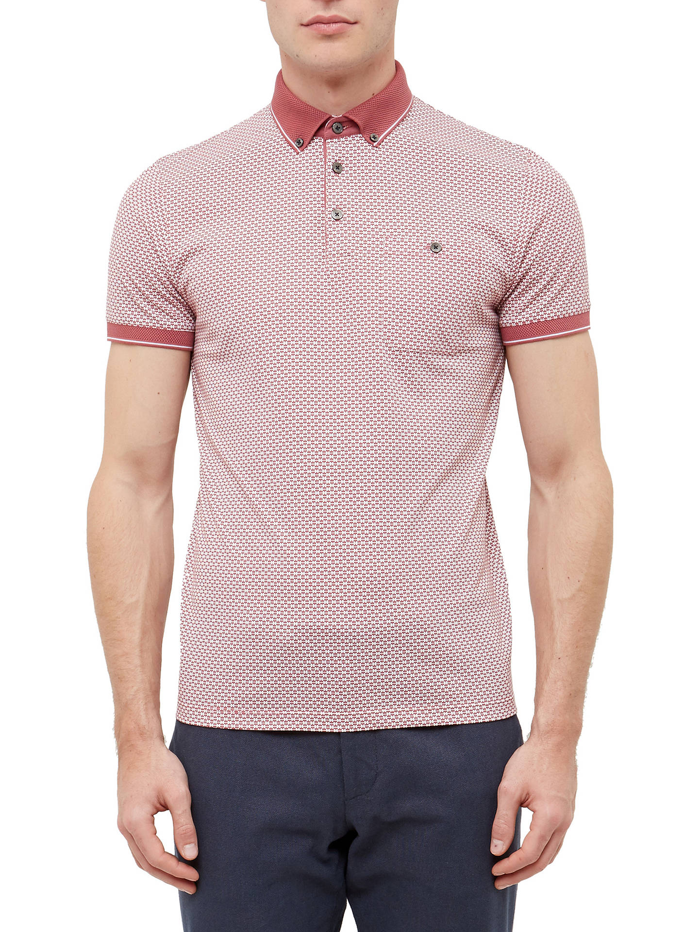 e5f121809 Buy Ted Baker Enders Polo Shirt, Mid Pink, 2 Online at johnlewis.com ...