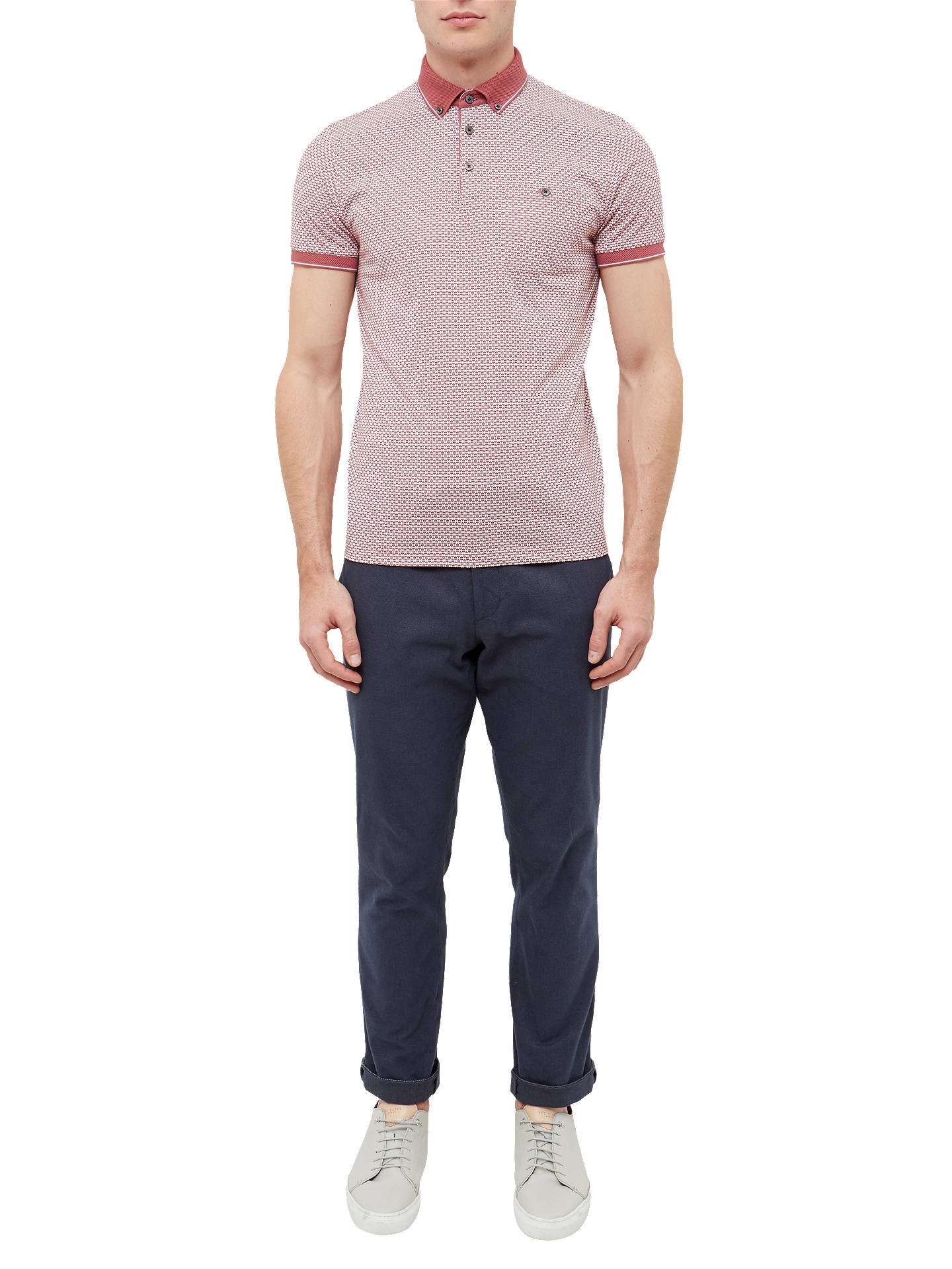 4816700b1 ... Buy Ted Baker Enders Polo Shirt, Mid Pink, 2 Online at johnlewis.com