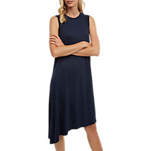 Buy Jaeger Asymmetric Jersey Dress, Midnight Online at johnlewis.com