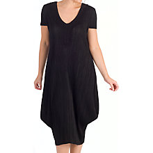 Buy Chesca Crushed Pleat Draped Dress, Black Online at johnlewis.com
