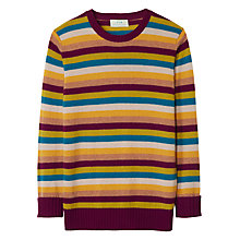 Buy Winser London Yasmin Le Bon Cashmere Stripe Boyfriend Jumper, Multi Stripe Online at johnlewis.com