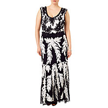 Buy Studio 8 Lizzie Tapework Maxi Dress, Black/White Online at johnlewis.com