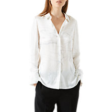 Buy Jigsaw Waterpool Silk Blouse, Ivory Online at johnlewis.com