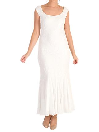 Chesca Embroidered Beaded Bridal Dress, Ivory