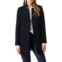 Buy Jigsaw Chip Rever Coat, Navy Online at johnlewis.com