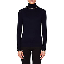 Buy Ted Baker Ceilya Frill Roll Neck Jumper Online at johnlewis.com