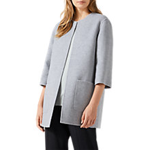 Buy Jigsaw Double Faced Jacket, Pale Grey Online at johnlewis.com