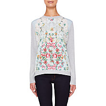Buy Ted Baker Fareeda Patchwork Fine Knit Jumper, Multi Online at johnlewis.com