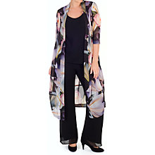 Buy Chesca Print Chiffon Coat, Black/Multi Online at johnlewis.com