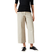 Buy Jigsaw Lux Panama Crop Flare Trousers, Stone Online at johnlewis.com