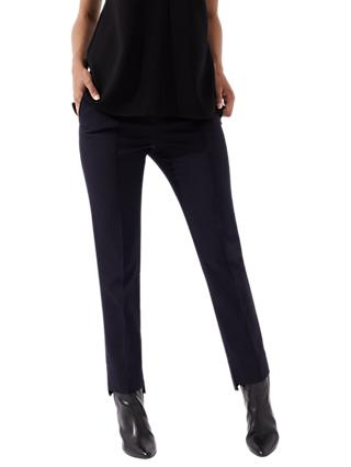 Jigsaw Stepped Hem Trousers, Winter Rose