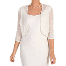 Buy Chesca Embroidered Beaded Bridal Bolero, Ivory Online at johnlewis.com