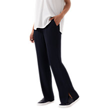 Buy Jigsaw Fluid Wool Parallel Trousers, Navy Online at johnlewis.com