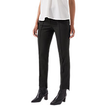 Buy Jigsaw Stepped Hem Trousers, Navy Online at johnlewis.com