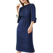 Buy Jigsaw Dotty Spot Midi Dress, Marine Blue Online at johnlewis.com