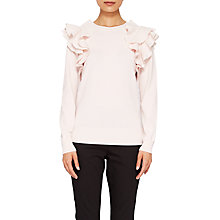 Buy Ted Baker Frilled Shoulder Jumper, Nude Pink Online at johnlewis.com
