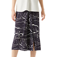 Buy Jigsaw Waterpool Pleat Front Midi Skirt, Rock Online at johnlewis.com