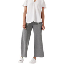 Buy Jigsaw Sculptural Jersey Wide Leg Trousers, Pale Grey Online at johnlewis.com