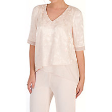 Buy Chesca Leaf Jacquard Layered Tunic, Blush Online at johnlewis.com