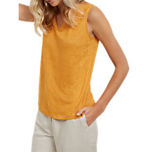 Buy Jaeger Linen Jersey Vest, Orange Online at johnlewis.com