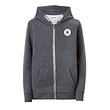 Buy Converse Boys' Core Hoodie, Charcoal Online at johnlewis.com