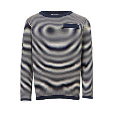 Buy John Lewis Boys' Mini Stripe Knitted Jumper, Navy Online at johnlewis.com