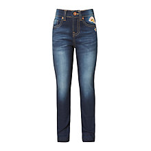 Buy John Lewis Girls' Denim Badged Jeans, Blue Online at johnlewis.com
