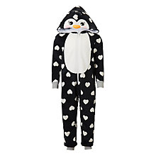Buy John Lewis Children's Penguin Onesie, Black/White Online at johnlewis.com