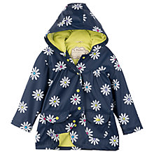 Buy Hatley Girls' Sunny Daisy Classic Raincoat, Navy Online at johnlewis.com