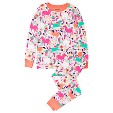 Buy Hatley Children's Roaming Horses Long Sleeve Pyjamas, Pink/Multi Online at johnlewis.com