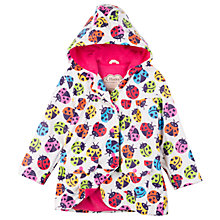 Buy Hatley Girls' Rainbow Ladybird Raincoat, White/Multi Online at johnlewis.com
