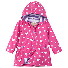 Buy Hatley Girls' Floating Heart Splash Jacket, Pink Online at johnlewis.com