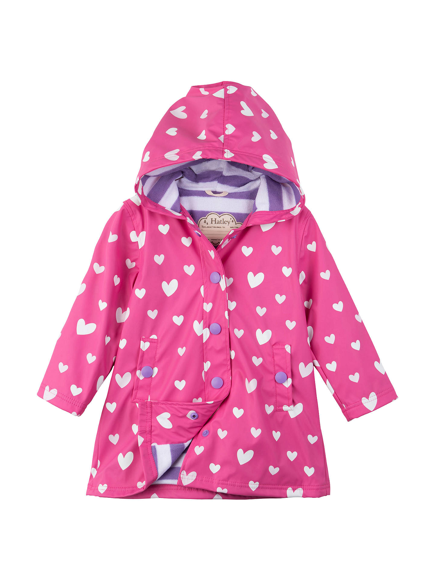 263fa0fa5 Buy Hatley Girls' Colour Changing Floating Heart Splash Jacket, Pink, 2  years Online ...