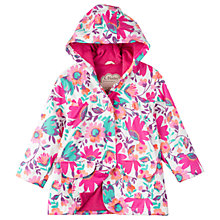 Buy Hatley Girls' Tortuga Bay Floral Raincoat, Pink Online at johnlewis.com