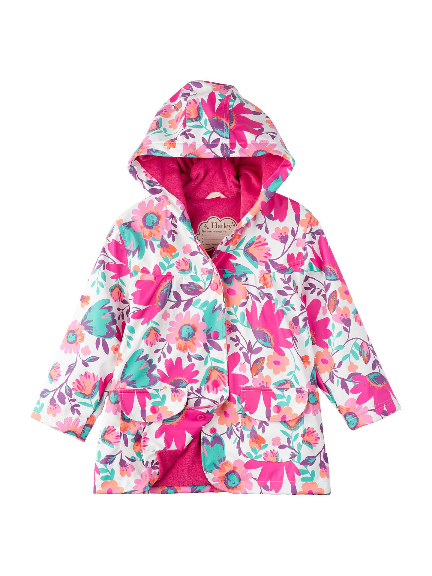 7d414f090 Buy Hatley Girls' Tortuga Bay Floral Raincoat, Pink, 2 years Online at  johnlewis ...