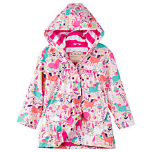 Buy Hatley Girls' Roaming Horses Raincoat, Pink Online at johnlewis.com