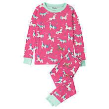 Buy Hatley Children's Parade Horses Long Sleeve Pyjamas, Pink Online at johnlewis.com
