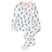 Buy Hatley Children's Free Birds Long Sleeve Pyjamas, White/Multi Online at johnlewis.com