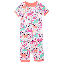 Buy Hatley Children's Roaming Horses Short Sleeve Pyjamas, Pink/Multi Online at johnlewis.com