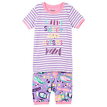Buy Hatley Children's Kitty Candy Applique Pyjamas, Purple Online at johnlewis.com
