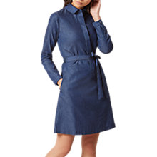 Buy Hobbs Leah Denim Dress, Indigo Online at johnlewis.com