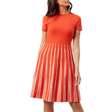 Buy Hobbs Marlia Dress, Red/Ivory Online at johnlewis.com