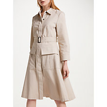 Buy Winser London Cotton Twill Utility Dress, Stone Online at johnlewis.com
