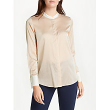Buy Winser London Lightweight Stripe Silk Shirt, Camel Online at johnlewis.com