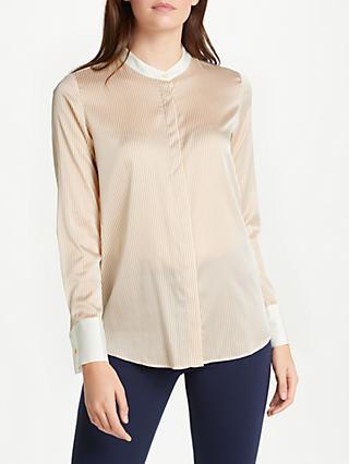 b69944777bc1d1 Winser London Silk Striped Lightweight Shirt